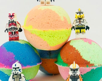 Sale! Star Wars Block Lego Figures Inspired 7.0 oz Birthday / Easter Egg Bath Birthday Set All Natural and Made with Texas Size Love!