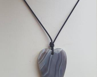 Botswana Agate Pendant Necklace, Free Shipping (E17069), Botswana Agate Necklace