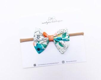 Spring Botanical | Baby headband set, Baby bow Headbands, Small Bows, Baby Bows, Newborn headbands, Nylon Headbands, Baby hair bows,