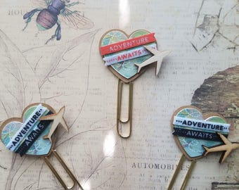 Travel/ Journey Paperclips/ Bookmarks - Set of 2