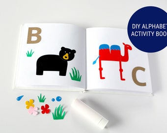 diy alphabet book babys first alphabet unique guest book for baby shower activity - Primary Colors Book