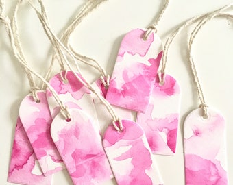 Pink Watercolor Gift Tags