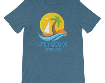 Family Vacation Summer 2018 Matching Beach Caribbean Hawaii Holiday Trip South America Cruise Ship Boat Florida Mexico Beaches Shirt