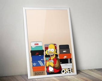 Homer Simpson Supreme Yeezy Art Print