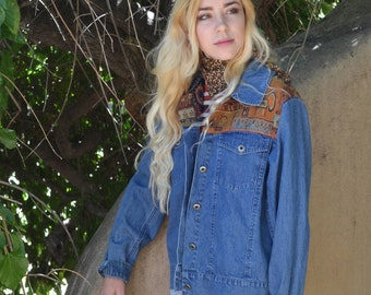 Southwest Inspired Vintage Denim Jacket
