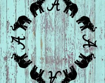 University of Alabama Monogram Decal/UofA/Crimson Tide/Roll Tide/Monogram/Monograms/Tumblers/Tumbler Decals/Yeti