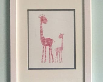 Watercolor Giraffes, Nursery Print, Baby Room, Gallery Wall Print, Graphic Print, Wall Art, Printable Art, Abstract Art, Instant Download
