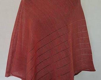 Light red poncho, linen poncho, summer poncho, knit poncho, knit cape, linen cape, red cape, linen shawl, red shawl, linen shawl