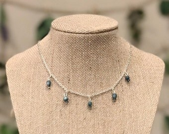 Blue River Shell Dainty Silver Necklace