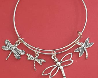 Dragonfly Themed Charm Bracelet