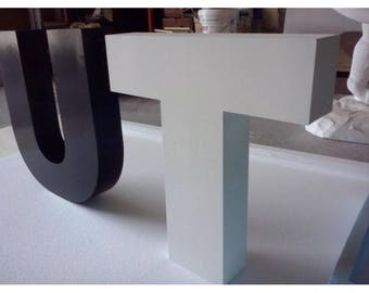 Polystyrene letters for events-anniversary-Valentines-marriage-birthdays