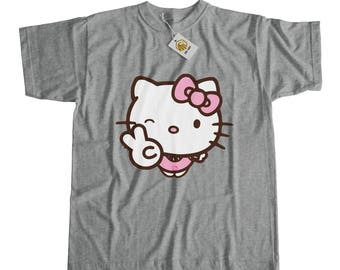 Hello Kitty Tshirt Hello Kitty Shirt Cute Girl Shirt Cat Girl Cute Hello Kitty Daddys Girl Tshirt Gift For Her Girls Gifts Kitty Tee