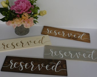 Reserved Table Sign/ Reserved Seating/ Reserved Wedding Sign/ Reserved Sign for Wedding/Wedding Reserved Sign