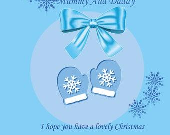 Mummy & Daddy Christmas Card from Bump Boy