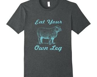 Farm Animal Shirt - Animal Friend Shirt - Herbivore Shirt - Sheep Top - Funny Sheep Shirt - Lamb T Shirt - Eat Your Own Leg
