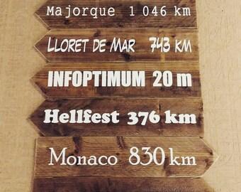 Panneaux mariage en bois, flèches mariage, panneaux direction mariage, wedding, décoration mariage, champêtre, vintage, rustique.