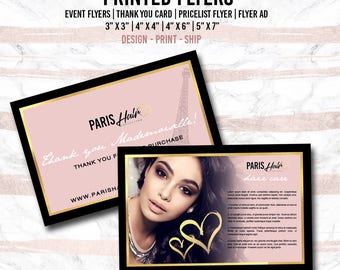 Print Square Flyers - 4x6 or 5x7 3x3 4x4 Flyers - Thank you cards - Promo Flyers - Ads - Social media print flyers