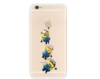 Minions  iPhone 8 case, iPhone 8 plus case, iPhone case 7 plus, soft iPhone 7 case,Transparent Clear Phone Case iPhone,Despicable Me