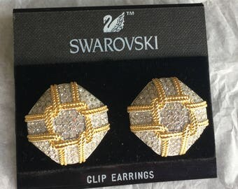 Swarovski Pavé Crystal Clip-on Earrings
