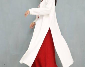 Linen women dress   linen dress, loose fitting linen, soft linen tunic, long linen dress, linen dress sleeves, maxi linen dress, white dress