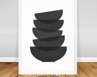 Modern Kitchen Art Print, Minimalist Wall Decor, Art for Kitchen Printable, Minimalist Poster, Modern Kitchen Decor, Black and White Art