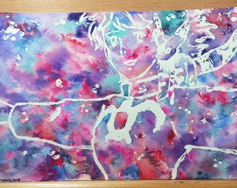 "Nausicaa of the Valley of the Wind (ORIGINAL ≈ 9.5"" x 6.5"" )"