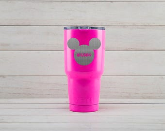 Yeti Tumblers Engraved With Mickey Mouse Personalized Yeti Tumblers 20 oz Mickey Mouse Yeti Gift For Men Mickey Mouse Yeti Rambler 30 oz