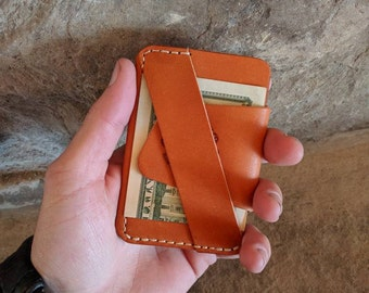 The Wraptor, EDC wallet, leather EDC wallet, front pocket wallet, every day carry wallet, leather minimalist wallet, handmade wallet, gift