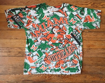 CRAZY Miami Hurricanes All-Over Print Shirt