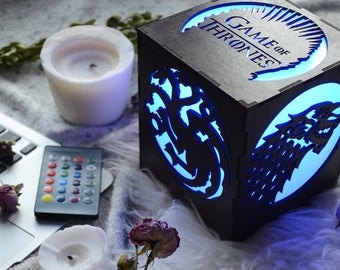 Game of Thrones gift, Led lamp, Game of thrones house, Game of thrones home decor, Game of thrones kitchen house Targaryen, winter is coming