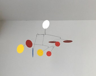 Kinetic Mobile Sculpture Inspired by Alexander Calder