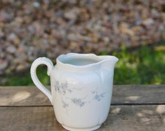 Ironstone Pitcher - Antique Ironstone Creamer - Antique Ironstone Pitcher - Vintage Ironstone Pitcher - Ironstone Creamer - Ironstone Cream