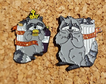 Bob's Burgers Little King Trashmouth El Diablo Raccoon Enamel Pin