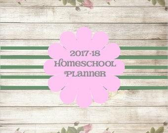 2017-18 Homeschool Planner Calendar Shabby Chic ADORABLE Printable Instant Download