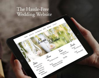 The Hassle-Free Wedding Website