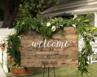 Wedding Welcome Sign | Wood Wedding Welcome Sign | Wood Welcome Sign | Rustic Wedding Welcome Sign