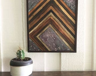 Original Abstract Geometric Painting