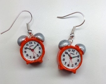 Earrings alarm clock Various colors earrings clock alarm clock earrings