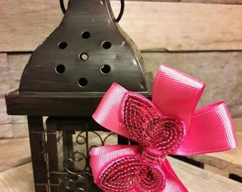 Pink Layered Butterfly Bow