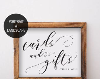 Cards And Gifts Sign Printable Download - Available As Portrait And Landscape