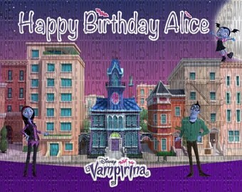 Vampirina Birthday Party Decoration Poster Custom Name High Quality Image