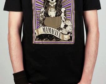 Men's Skeleton T-Shirt, Day of the Dead, Mamacita Men's Top, Gothic t-shirt, Tattoo style tee, Sugar Skull t-shirt