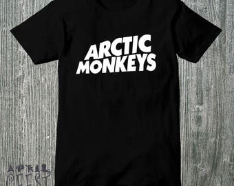 Inspired By  Arctic Monkeys Black Shirt 100% cotton Size S M L XL 2XL
