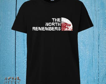 Inspired By The North Remembers, Game of Throne Shirt, The North Remembers Shirt, House Stark, S M L XL 2XL Sizes