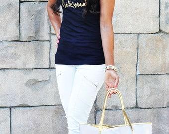 Bridesmaid T-Shirt - Bridal Party Gift - Bridesmaid Gift, Wedding Keepsake Gifts, Shower Gift, Custom Bridesmaid Gift