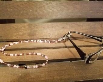 Purple and Pink Eyeglass Holder, Chain, Strap, Lanyard. Glass Beaded, Teacher or Coworker Gift, Eyeglasses, FREE SHIPPING, EEYE5