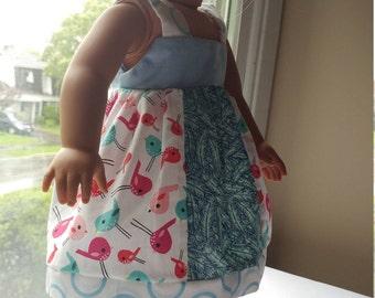 18 inch doll cloth mixed cotton fabrics robe pour poupée de 18 pouces divers tissus mélangés