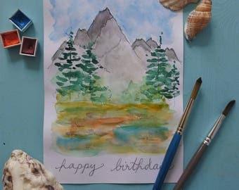 Carte d'anniversaire, nature.