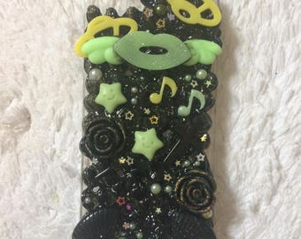iphone 5 / 5s deco den galaxy space sparkly phone case