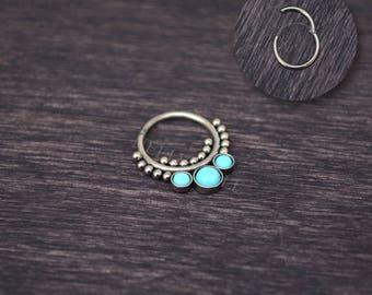 Surgical Steel Septum Ring 14g - Septum jewelry, daith piercing jewelry